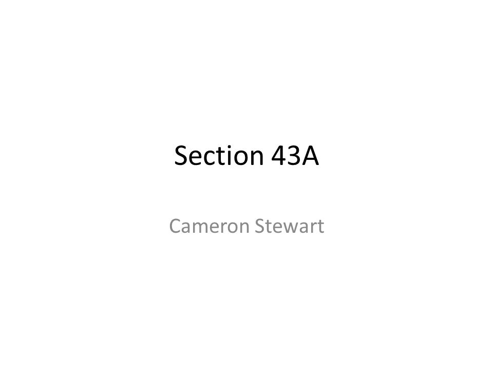 Section 43A Cameron Stewart