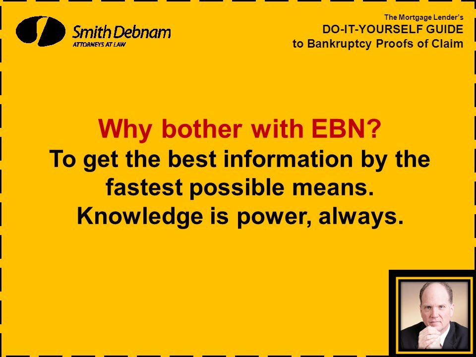 Why bother with EBN. To get the best information by the fastest possible means.