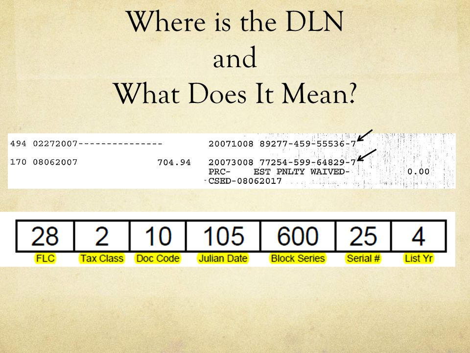 Where is the DLN and What Does It Mean?