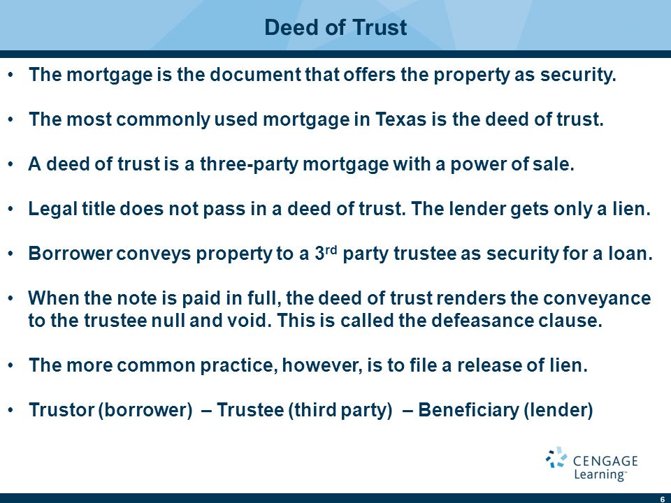 27 A two-party mortgage where the mortgagor offers his property as security and the mortgagee is the lender and holder of the note.