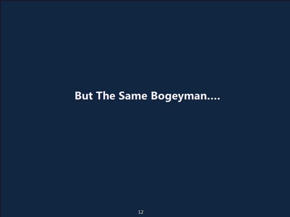 But The Same Bogeyman…. 12