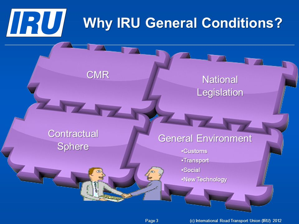 Why IRU General Conditions.