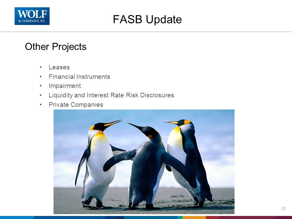 FASB Update Other Projects Leases Financial Instruments Impairment Liquidity and Interest Rate Risk Disclosures Private Companies 32