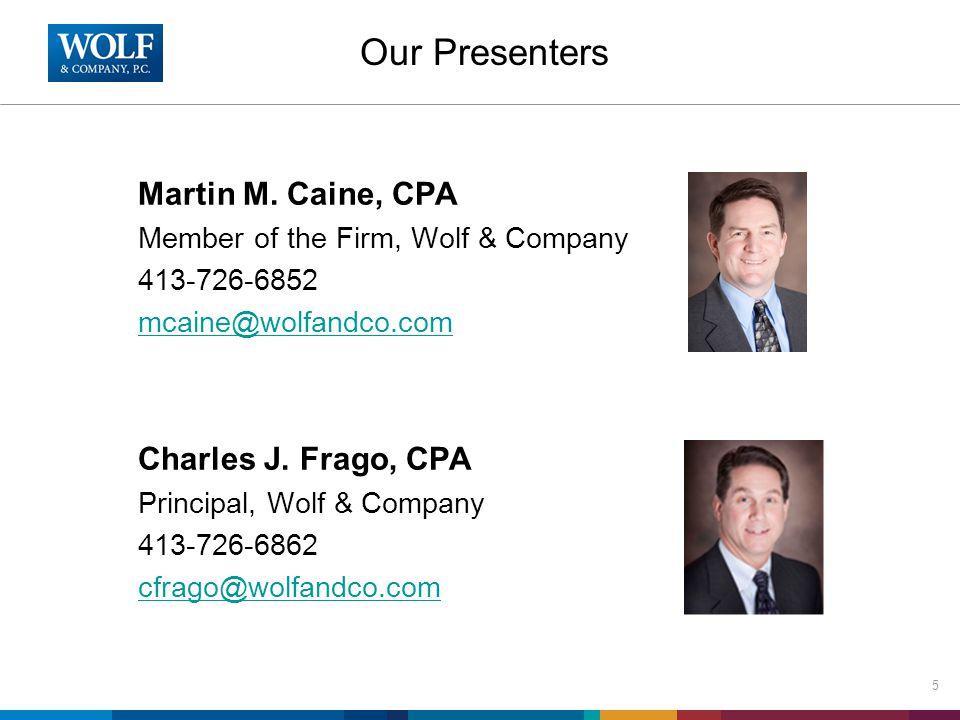 Our Presenters Martin M.