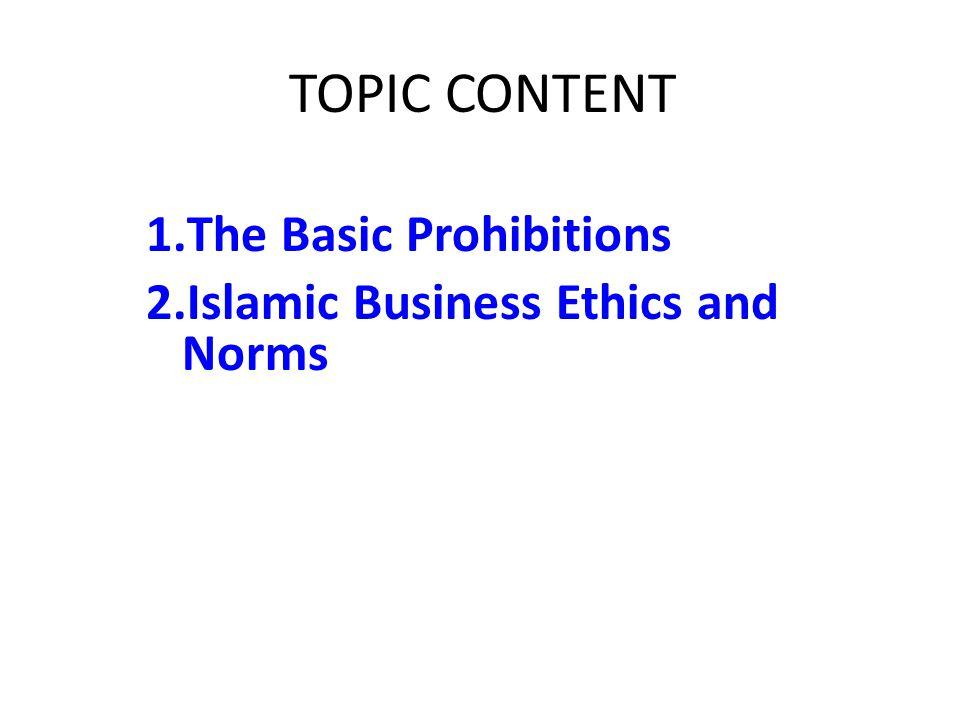 1. The Basic Prohibitions
