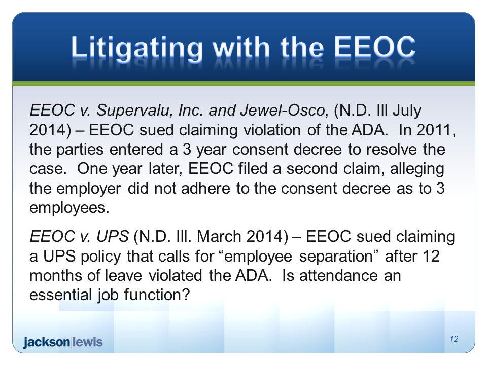 EEOC v. Supervalu, Inc. and Jewel-Osco, (N.D.