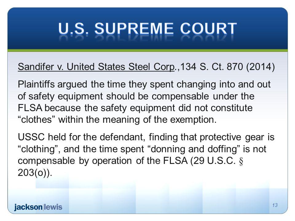 Sandifer v. United States Steel Corp.,134 S. Ct.