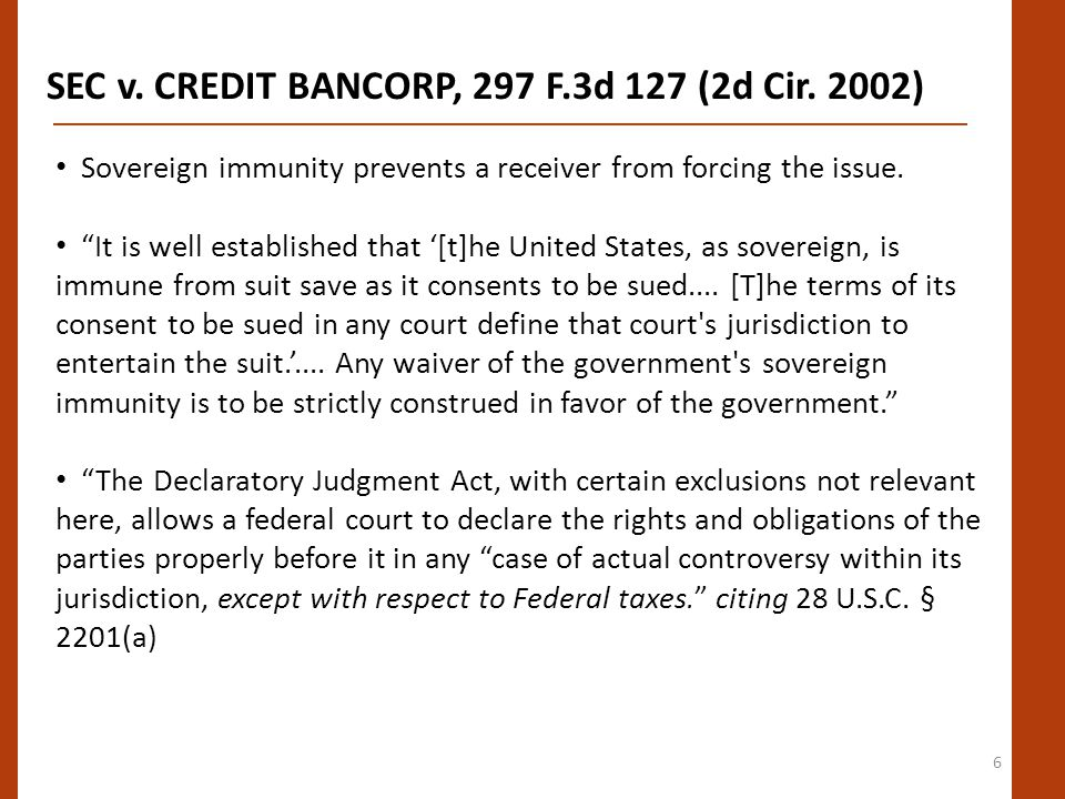 6 SEC v. CREDIT BANCORP, 297 F.3d 127 (2d Cir.