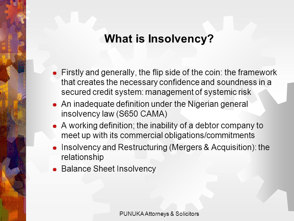 What is Insolvency.