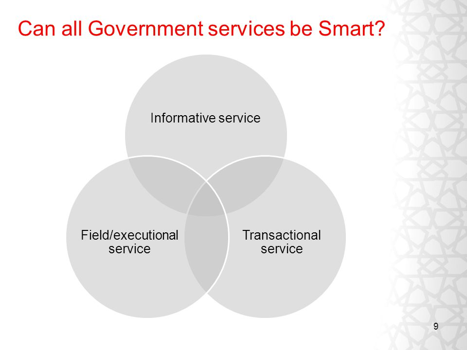 9 Can all Government services be Smart.