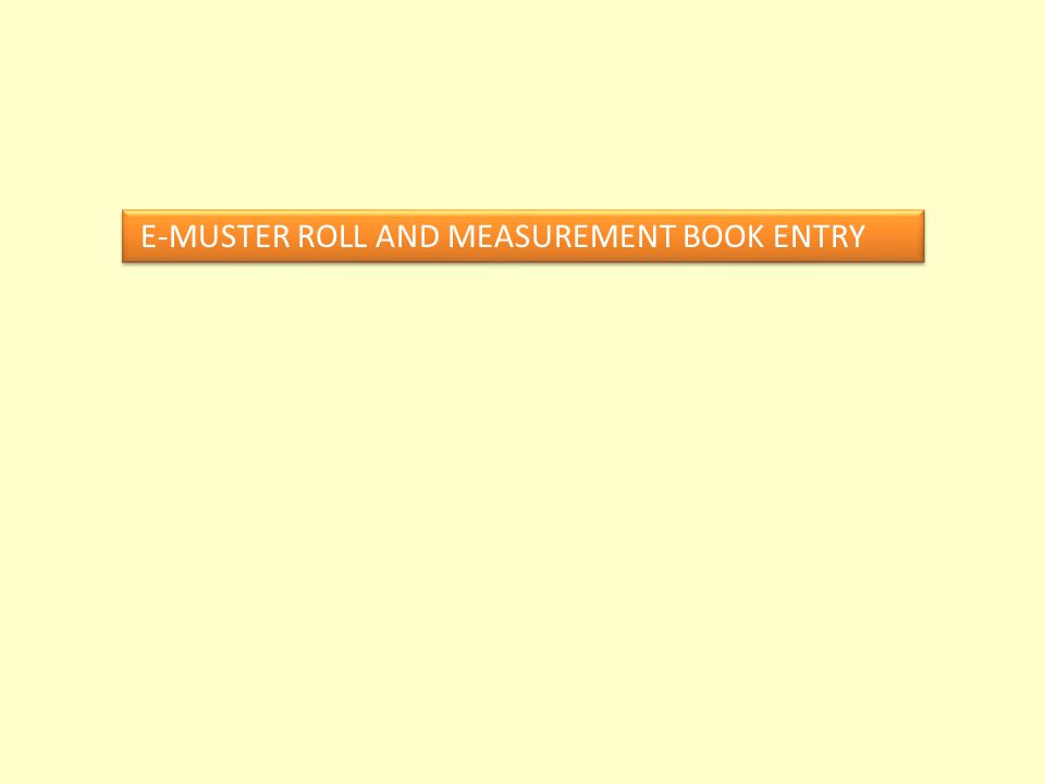 E-MUSTER ROLL AND MEASUREMENT BOOK ENTRY