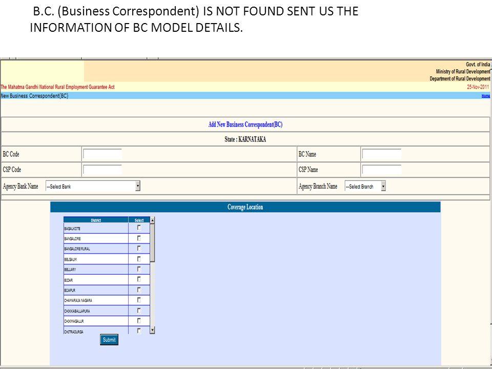 ENTER OF ACCOUNT DETAILS OF JOB CARD HOLDER Updation /verification & Freezing of bank accounts of Job card holder.