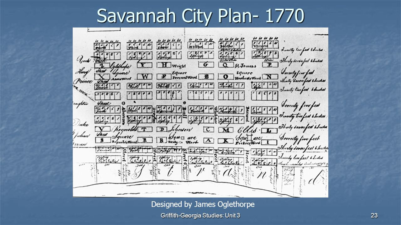23 Savannah City Plan- 1770 Designed by James Oglethorpe Griffith-Georgia Studies: Unit 3