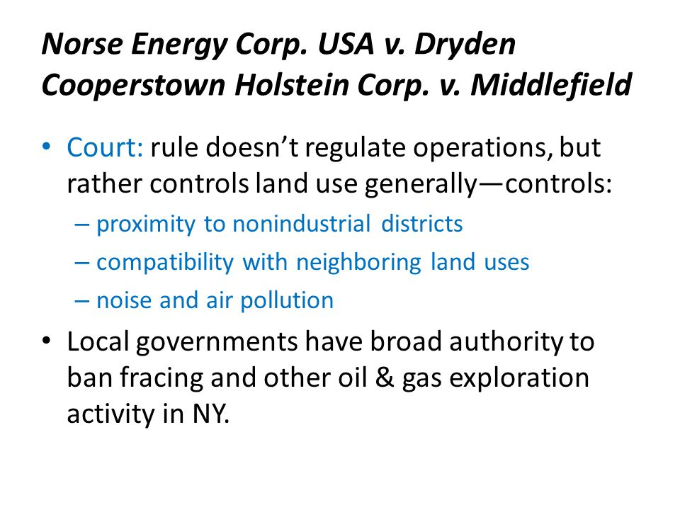 Norse Energy Corp. USA v. Dryden Cooperstown Holstein Corp.