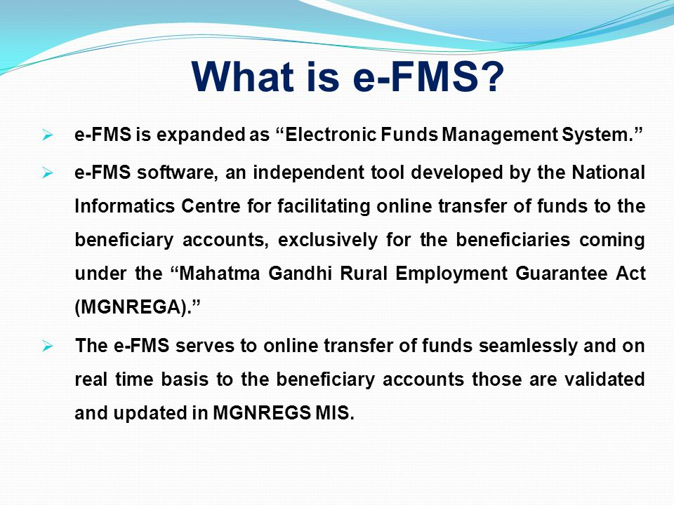Payment of Administrative Expenditure through eFMS Accounts of Vendors/service providers are verified and frozen (NREGA officials).