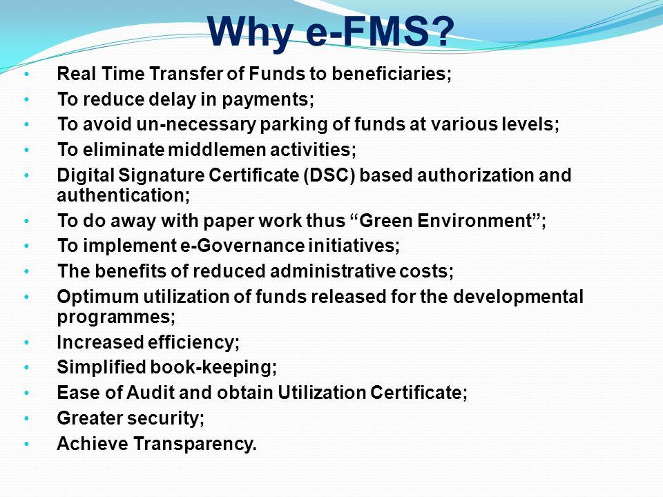 Why e-FMS.