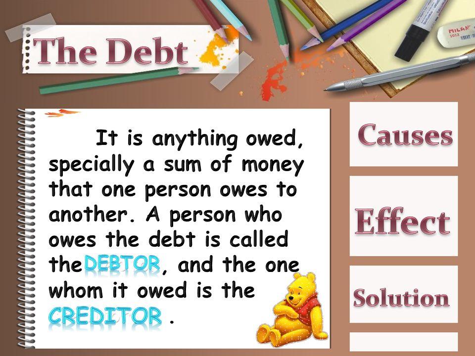 -The Burden of Debt