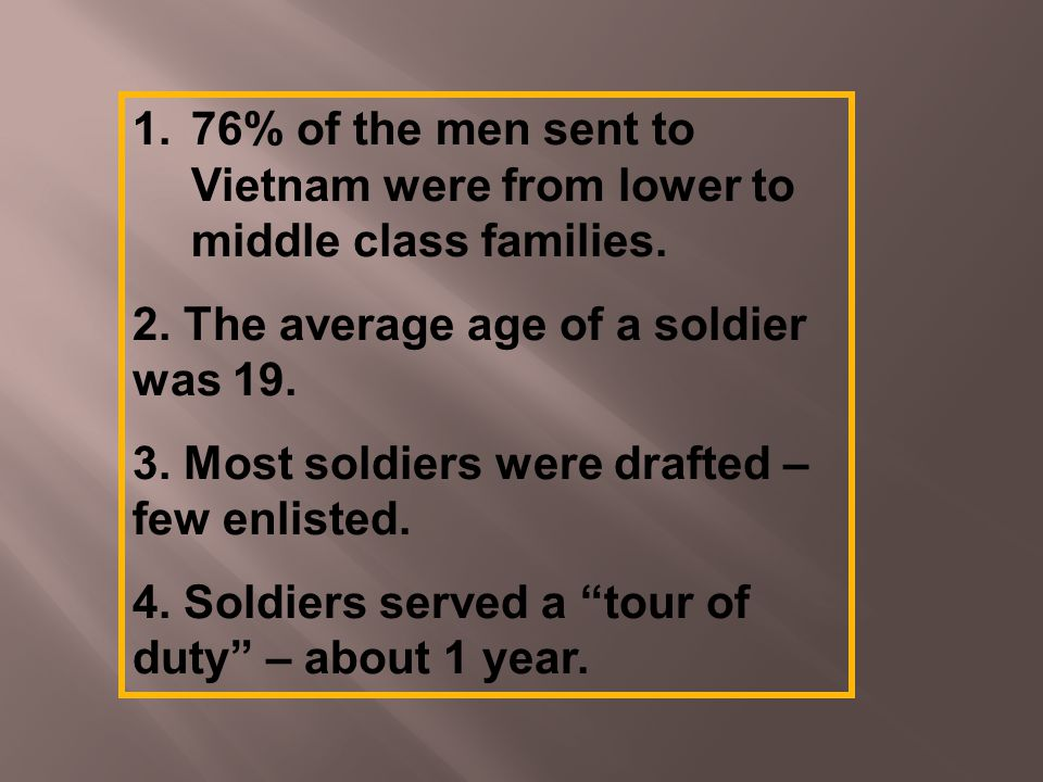 1.76% of the men sent to Vietnam were from lower to middle class families.