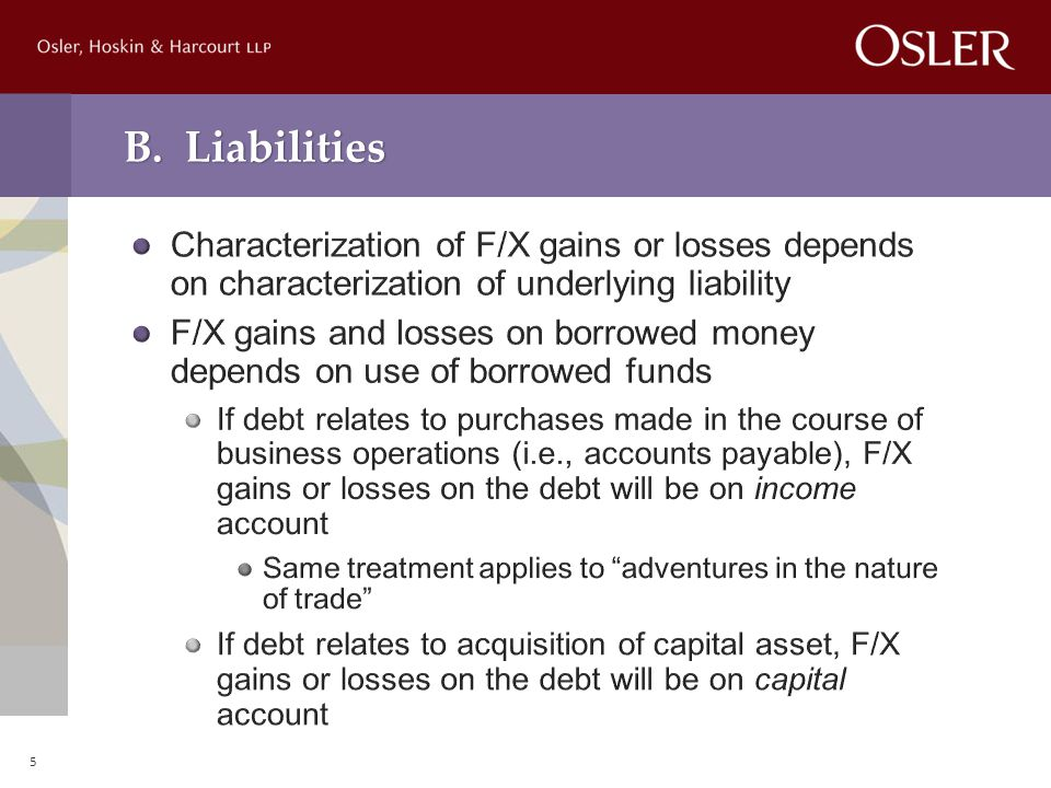 B. Liabilities 5