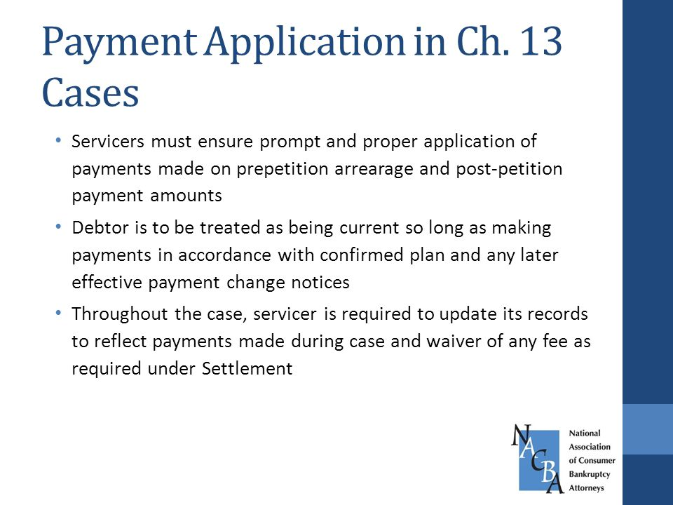 Payment Application in Ch.