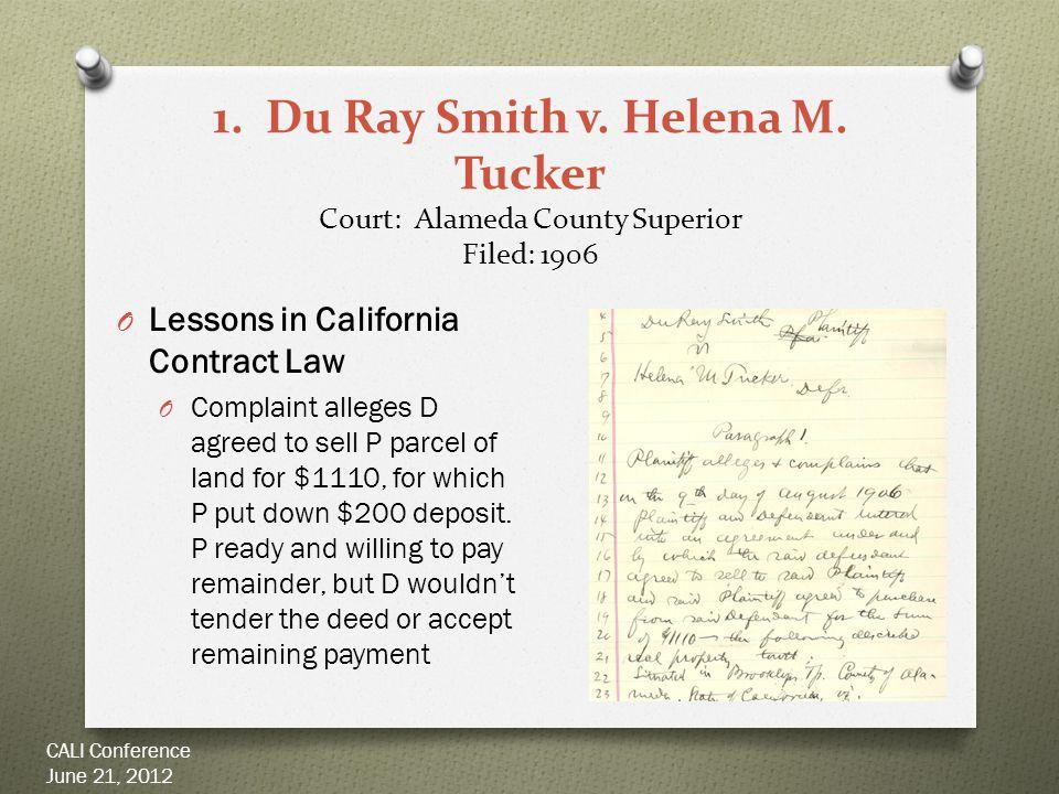 1. Du Ray Smith v. Helena M.