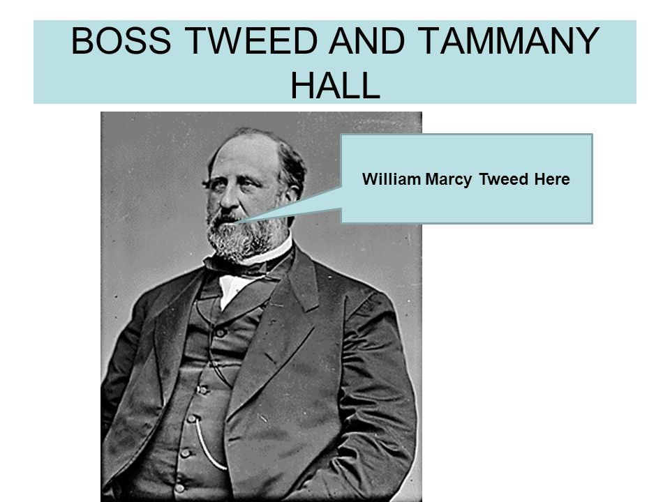 BOSS TWEED AND TAMMANY HALL William Marcy Tweed Here