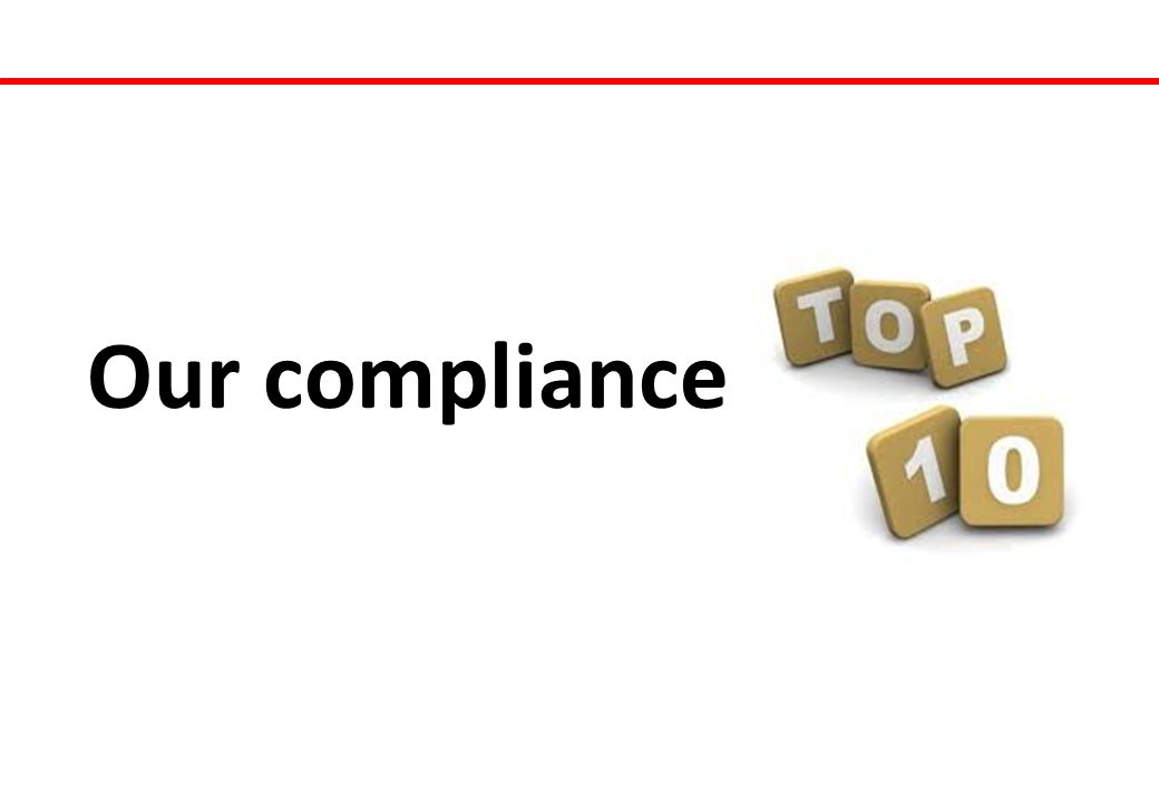 Our compliance