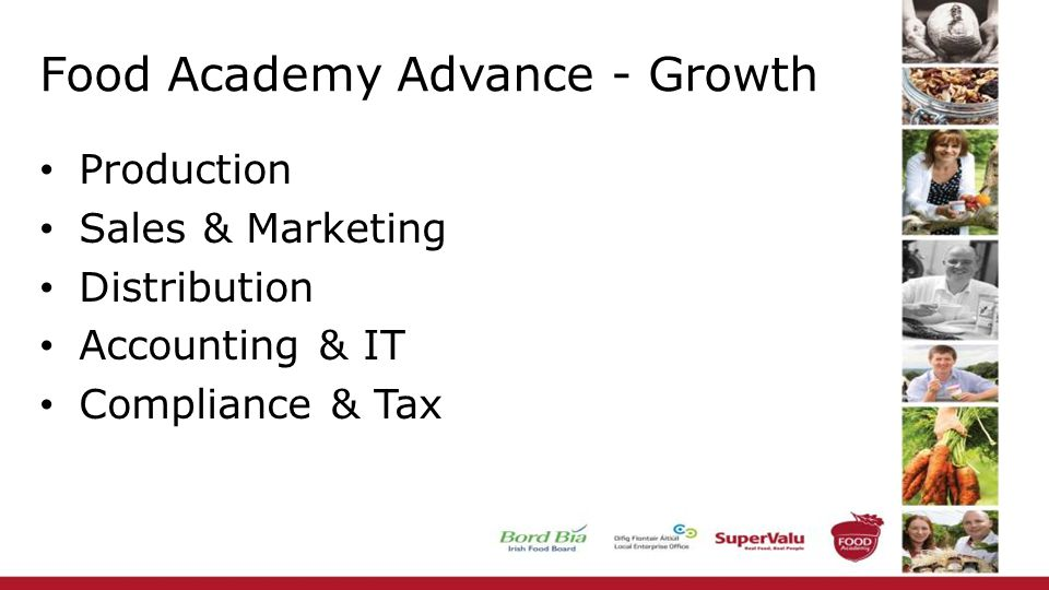 Food Academy Advance - Growth Production Sales & Marketing Distribution Accounting & IT Compliance & Tax
