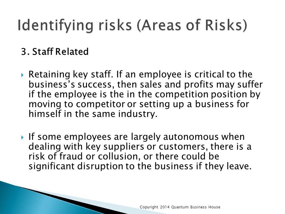 3.Staff Related  Retaining key staff.