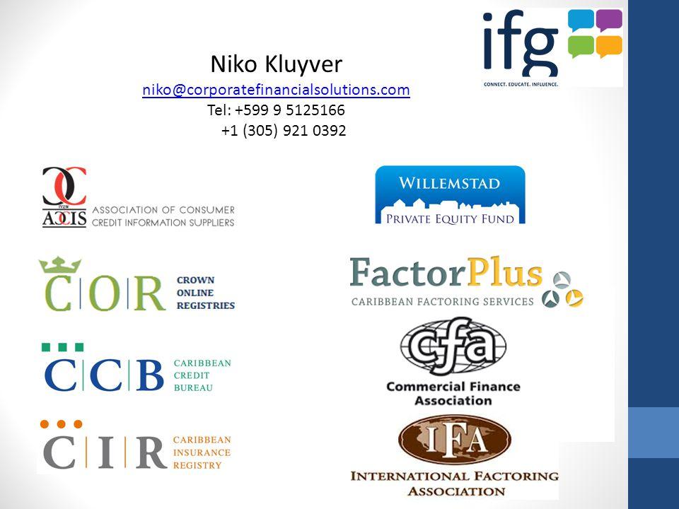 Niko Kluyver niko@corporatefinancialsolutions.com Tel: +599 9 5125166 +1 (305) 921 0392
