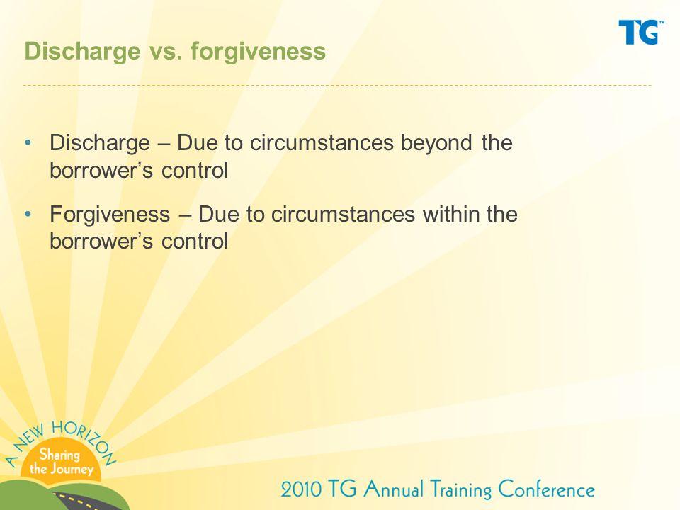Discharge vs.