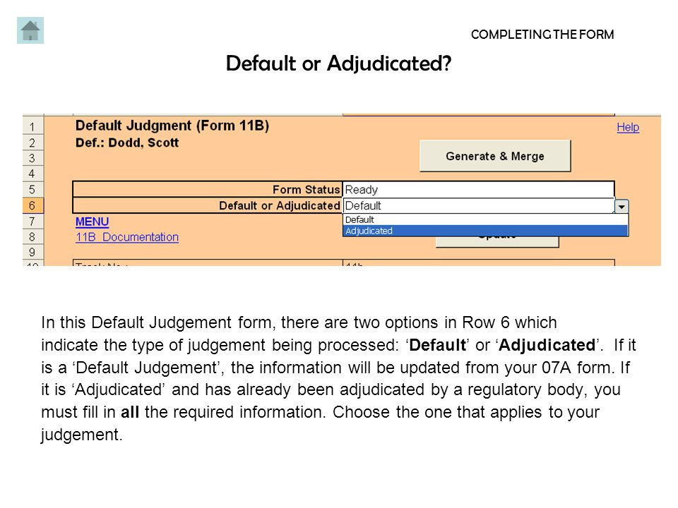 Page 1 COMPLETING THE FORM Page 1: Fill in all the information required for the plaintiff and defendant.