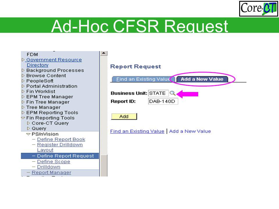 Ad-Hoc CFSR Request