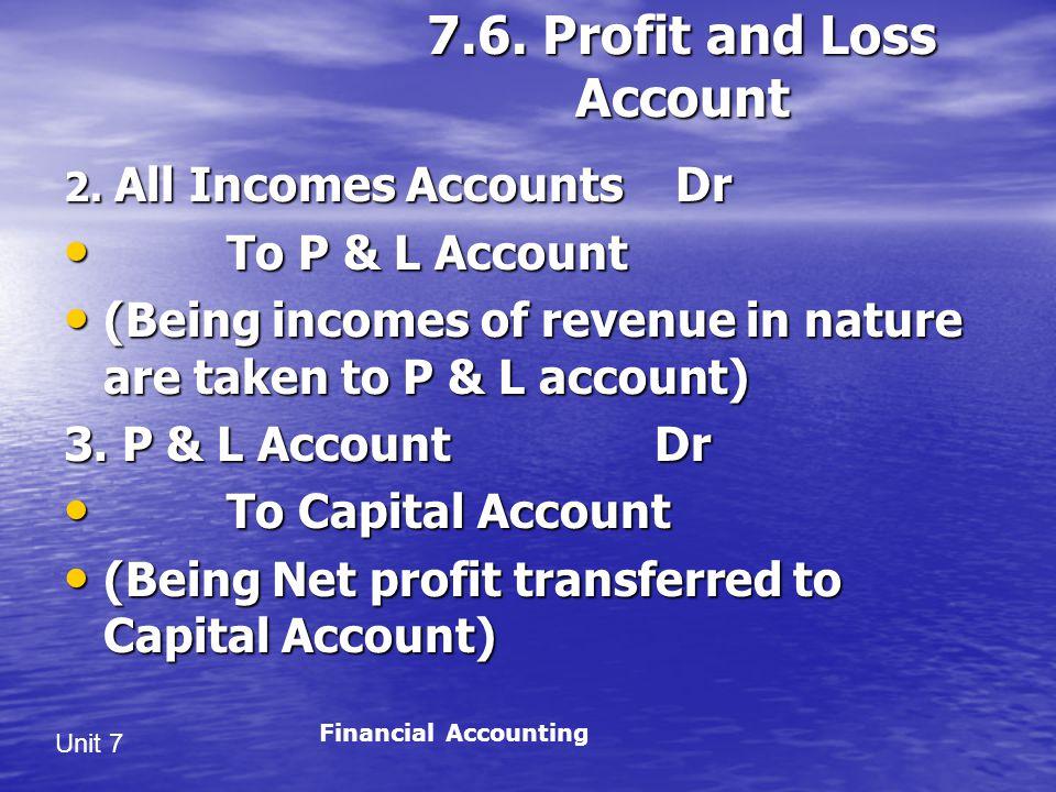Unit 7 7.6.Profit and Loss Account 2.