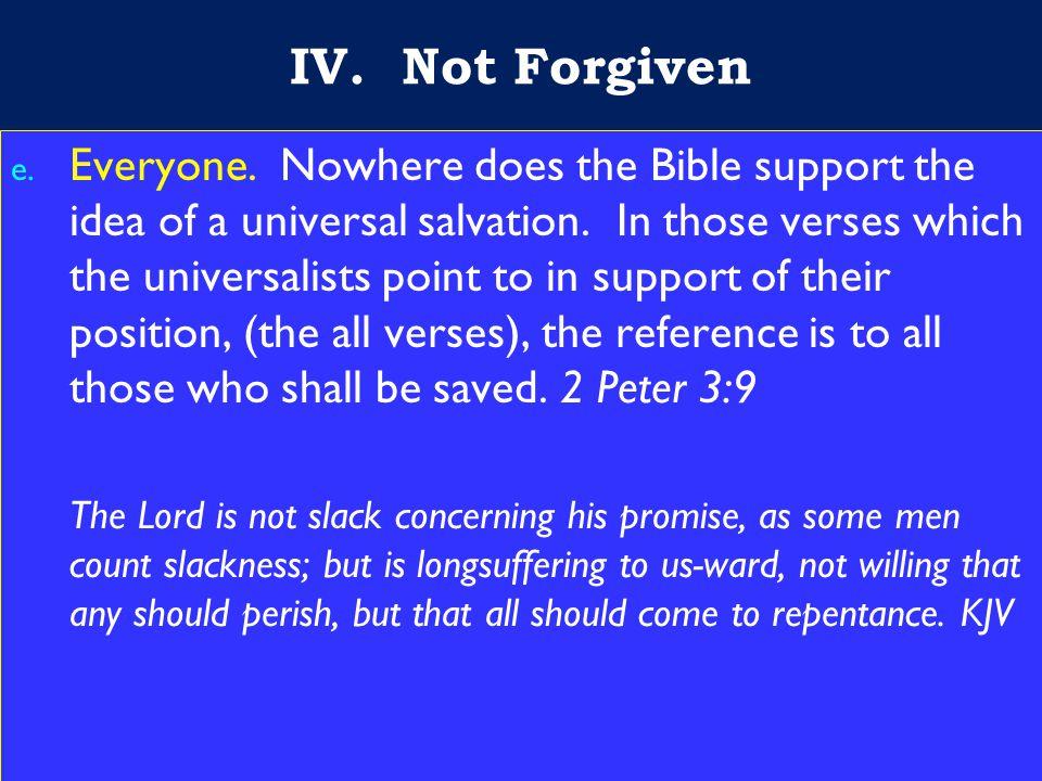 18 IV. Not Forgiven e. Everyone.