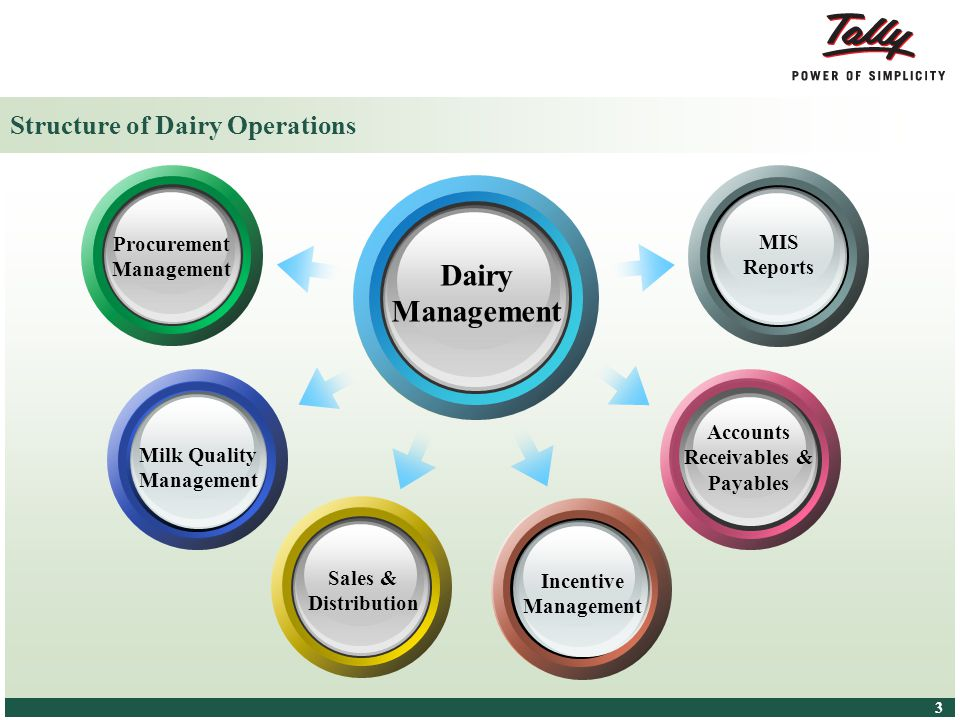 © Tally Solutions Pvt. Ltd. All Rights Reserved 4 4 Dairy – An Overview