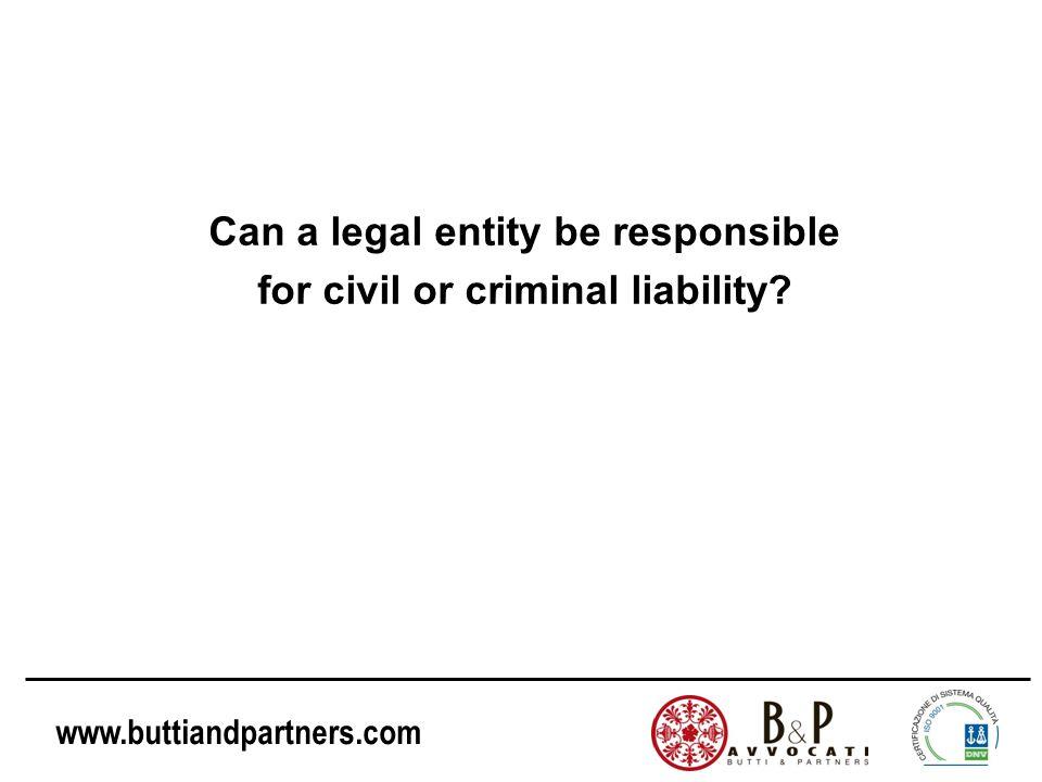 www.buttiandpartners.com Decree no. 231/2001 and the prevention of corporate crimes