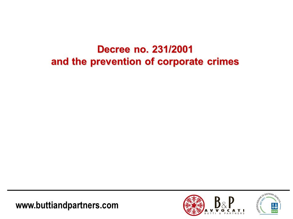 www.buttiandpartners.com What content of Directive 2008/99/EC has not yet been implemented in Italy.