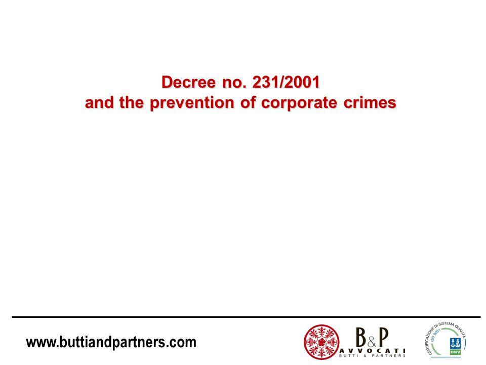 www.buttiandpartners.com Legislative Decree no.