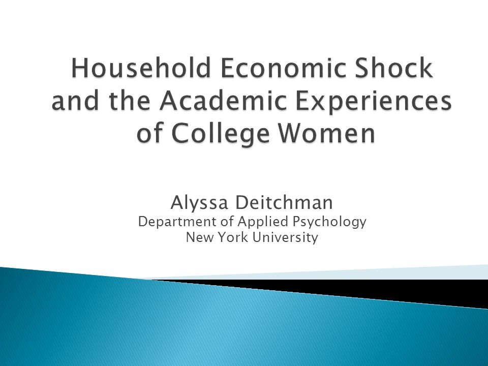 Alyssa Deitchman Department of Applied Psychology New York University