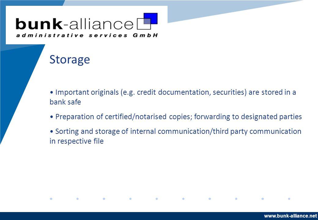 www.company.com Storage Important originals (e.g.