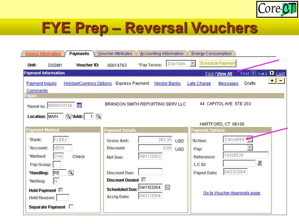 46 FYE Prep – Reversal Vouchers