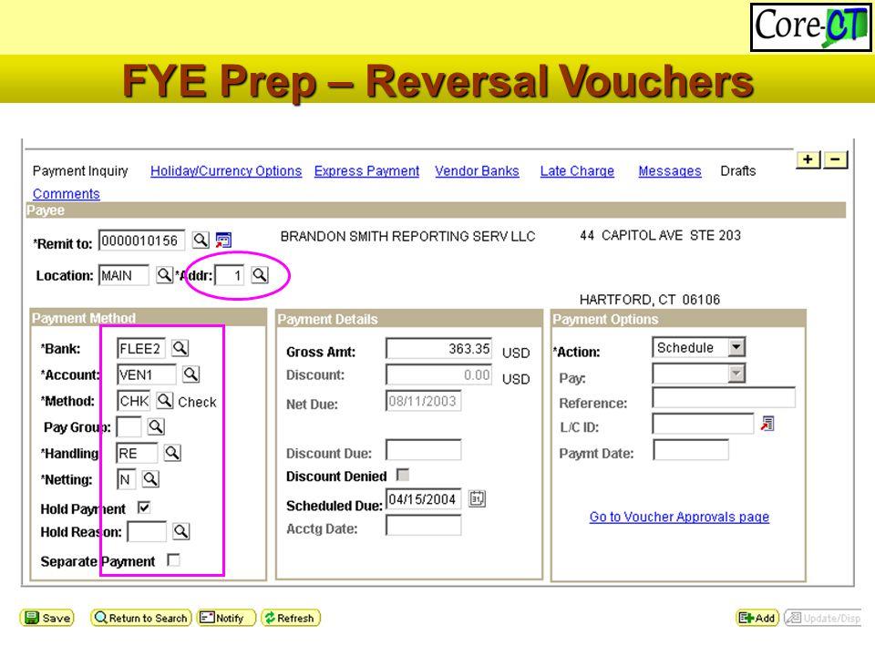 47 FYE Prep – Reversal Vouchers