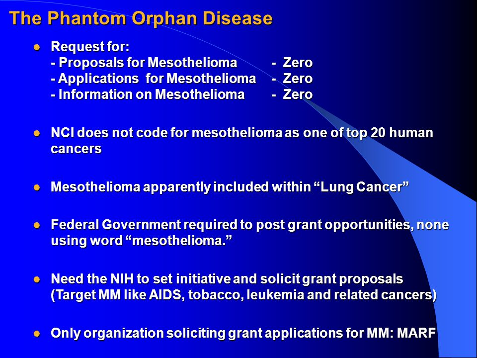 Request for: - Proposals for Mesothelioma- Zero - Applications for Mesothelioma- Zero - Information on Mesothelioma- Zero Request for: - Proposals for
