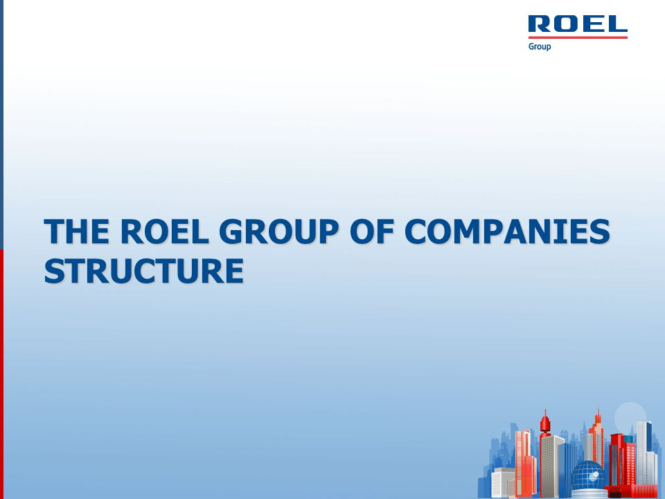THE ROEL GROUP OF COMPANIES' INVESTMENT PROJECTS