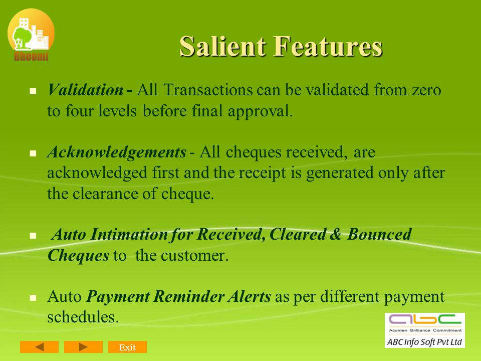 Salient Features Flexible Discount options by the company as well as dealers.