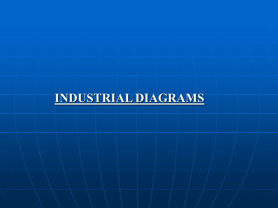 INDUSTRIAL DIAGRAMS An ideal industry is defined as a device which receives value from other industries in several forms and converts into one specific product for sales and distribution to other industries.