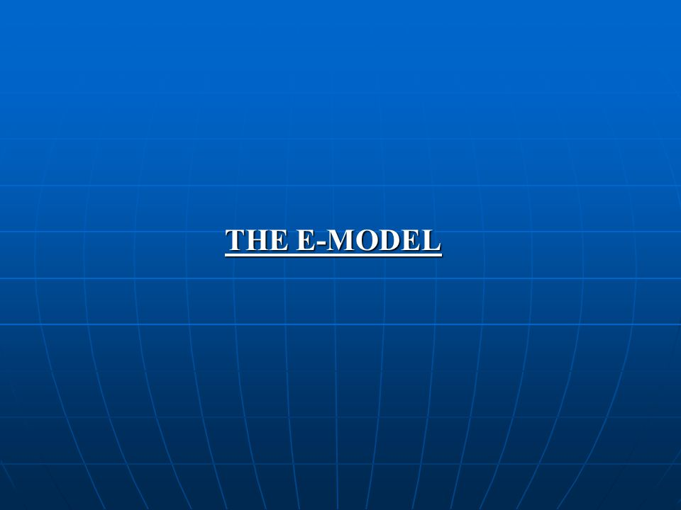 THE E-MODEL A national economy consists of simultaneous flows of production, distribution, consumption, and investment.