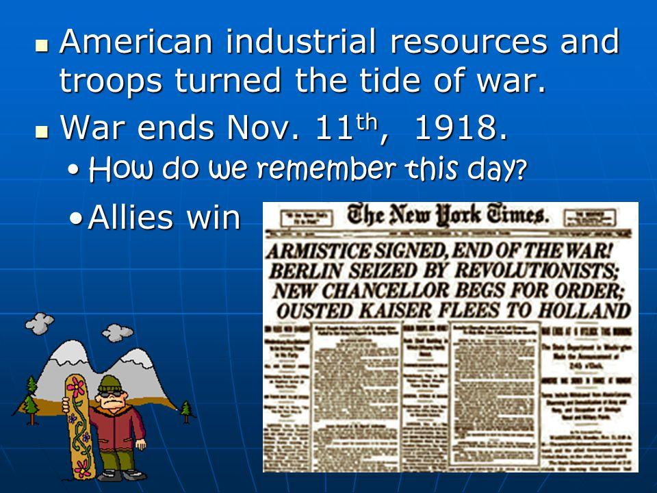 Was $ a factor. Between 1914-1917, U.S. exports quadrupled & the U.S.