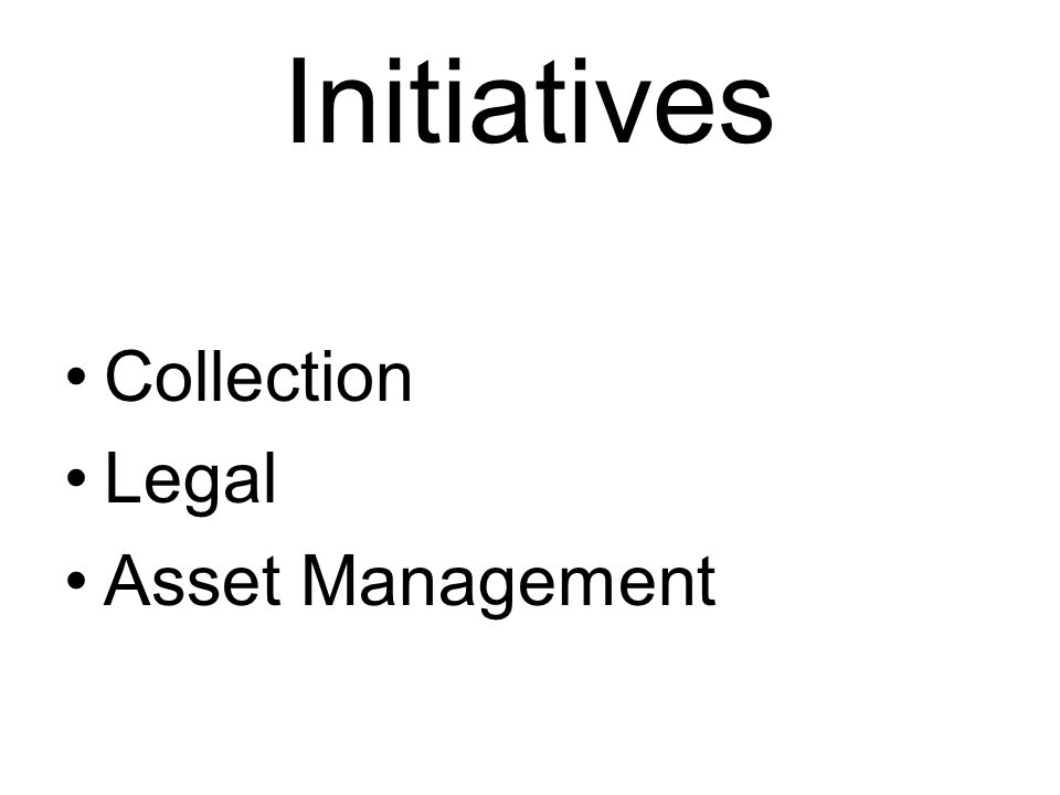 Initiatives Collection Legal Asset Management